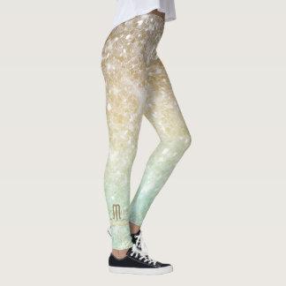 Kombinierte Glitzer-Steigungs-Opalgold ID435 Leggings