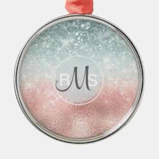 Kombiniertes Glitzer-Steigungs-Glas ID434 Silbernes Ornament