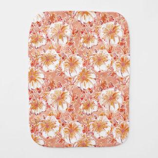 KOMBUCHA-CHA Pfirsich-tropisches Hibiskus-Muster Spucktuch