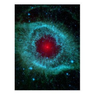 Kometen treten oben Staub im Schneckennebelfleck Postkarte