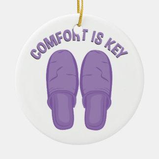 Komfort ist Schlüssel Rundes Keramik Ornament
