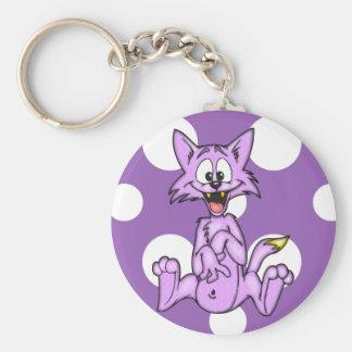 Komische Cartoon-Katze Schlüsselanhänger