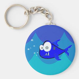 Komische Haifisch-Schwimmen in den Wellen Schlüsselband