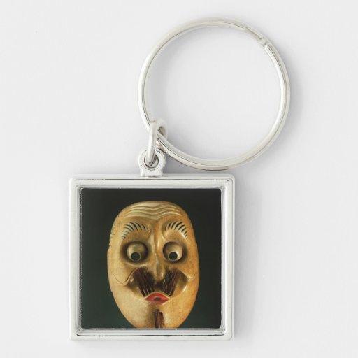 Komische Maske, Noh Theater Schlüsselbänder