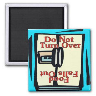 Komischer Kühlschrankmagnet, drehen sich nicht um Quadratischer Magnet