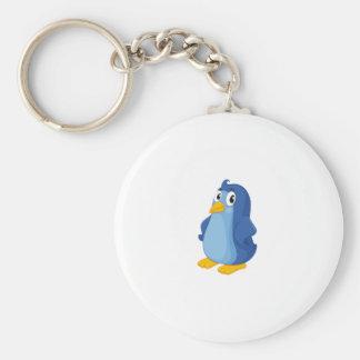 Komischer Pinguin Standard Runder Schlüsselanhänger