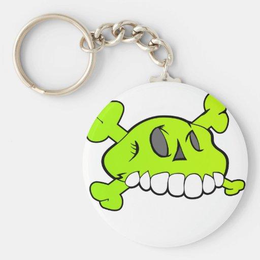 Komischer Schädel Schlüsselanhänger