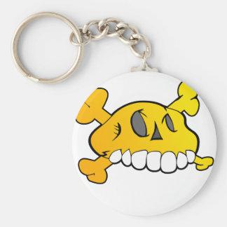 Komischer Schädel Standard Runder Schlüsselanhänger