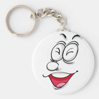 Komisches Gesicht Standard Runder Schlüsselanhänger