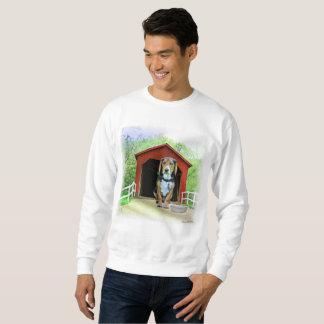 Komisches Sandy-Nebenfluss-Brücken-Hundehaus Sweatshirt