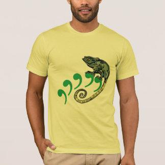 Komma-Chamäleon-Zitronen-amerikanisches T-Shirt