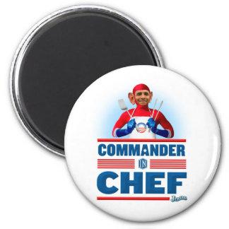 Kommandant im Koch Runder Magnet 5,7 Cm