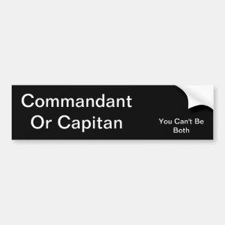 Kommandant oder Capitan Auto Aufkleber