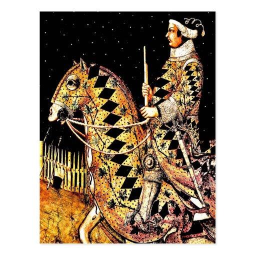 """Kommandant zu Pferd "" Postkarte"