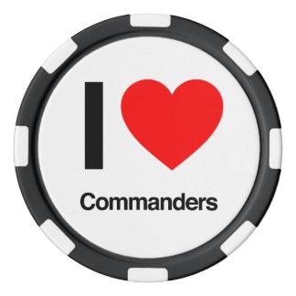 Kommandanten der Liebe I Poker Chips