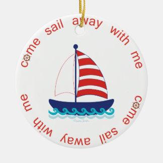 Kommen das wegsegel keramik ornament