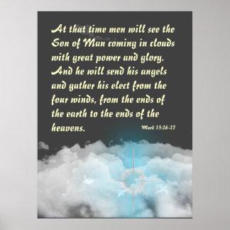Kommen in Wolken Poster