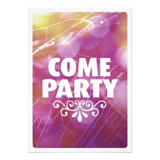 Kommen Partytypographie-Feiereinladung Personalisierte Ankündigungskarten