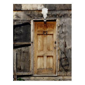 """Kommen Sie an in"" rustikale Eingangsgeschenke Postkarte"
