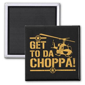 Kommen Sie nach DA Vintager Choppa Quadratischer Magnet