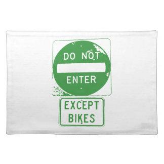 Kommen Sie nicht ausgenommen Fahrräder herein Stofftischset