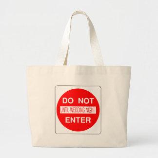 Kommen Sie nicht bis Hochzeits-NachtTaschen-Tasche