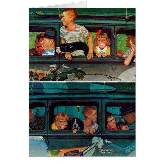 Kommen und Gehen durch Norman Rockwell Karte