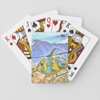 Kommender und gehender Hubschrauber Spielkarten
