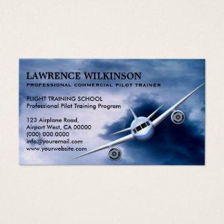 Kommerzielles Flugzeug in den Visitenkarte
