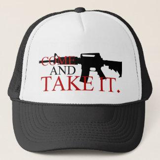Kommt es Fernlastfahrer-Hut nehmen Truckerkappe