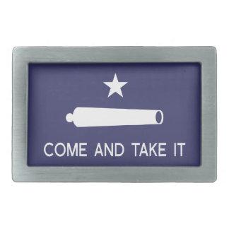 Kommt es Flagge ~ Texas nehmen Rechteckige Gürtelschnalle