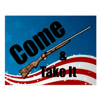 Kommt es Gewehr nehmen Postkarte