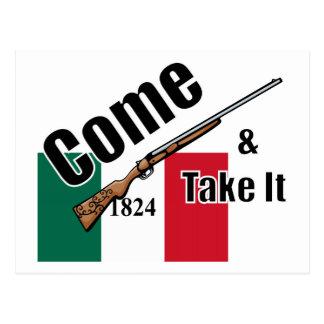 Kommt es Texas-Flagge 1824 nehmen Postkarte
