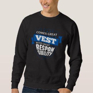 Kommt große WESTE. Geschenk-Geburtstag Sweatshirt