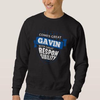 Kommt großer GAVIN. Geschenk-Geburtstag Sweatshirt