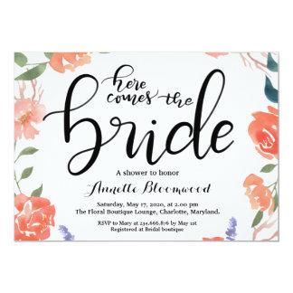 Kommt hier das Braut-BlumenBrautparty Karte