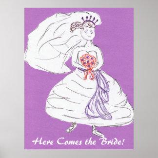 Kommt hier die Braut Poster