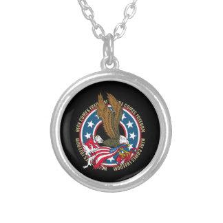 Kommt hier Freiheits-Amerikaner-Weißkopfseeadler Versilberte Kette