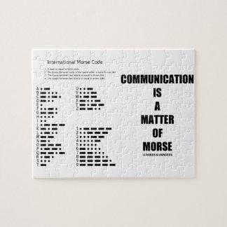 Kommunikation ist eine Angelegenheit von Morse Puzzle