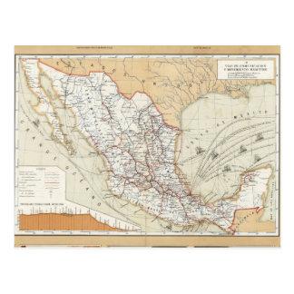 Kommunikation und Transport von Mexiko Postkarte