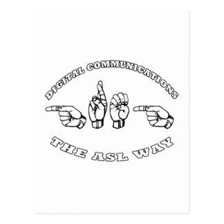 KOMMUNIKATIONEN GREG ASL DIGITAL POSTKARTE
