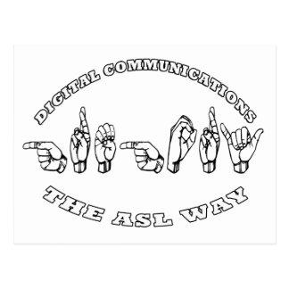 KOMMUNIKATIONEN Gregorys ASL DIGITAL Postkarte