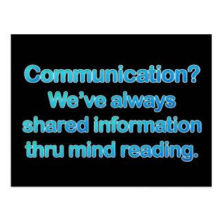 Kommunikations-Fragen Postkarte