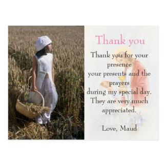 Kommunion danken Ihnen, kundenspezifische Postkarte