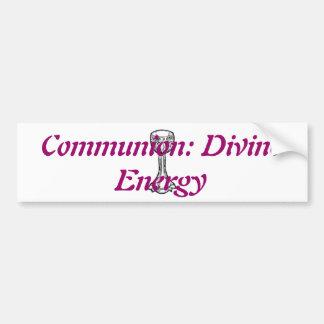 Kommunion: Göttliche Energie Autoaufkleber