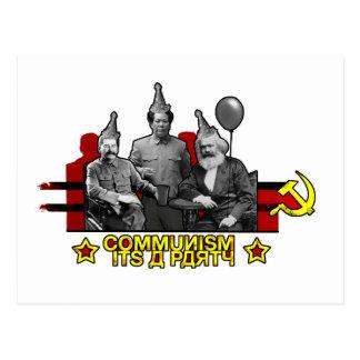 Kommunismus ist es ein Party Postkarte