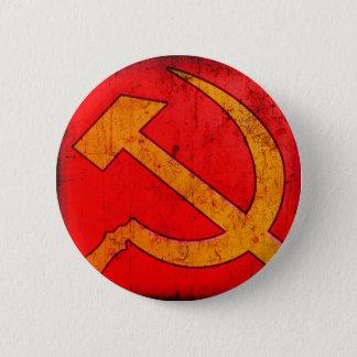 Kommunismus UDSSR-Hammer und Sichel-Knopf Runder Button 5,7 Cm