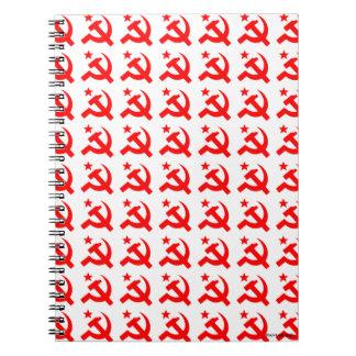 Kommunismuszeichen des Hammers Notizblock