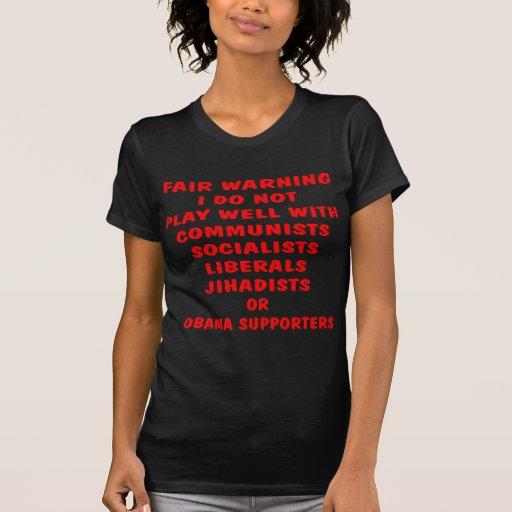 Kommunisten, Sozialist, Liberale, Jihadists, Obama Tshirts
