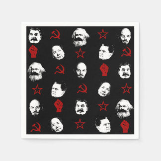 Kommunistische Führer Papierserviette